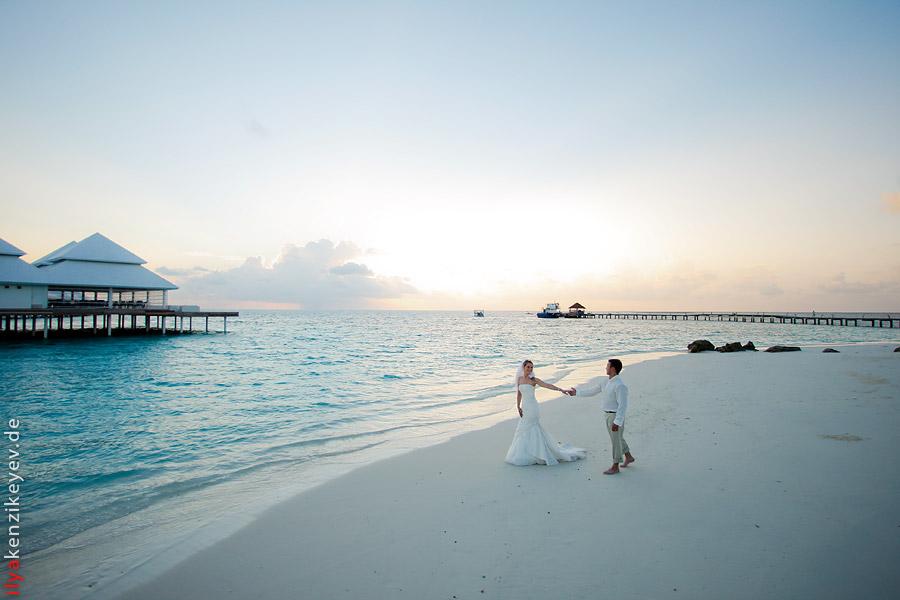 Diamonds Thudufushi Beach Water Villas Hochzeit Auf Den Malediven