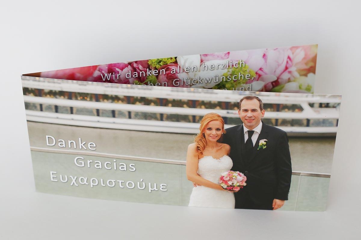 Danke Karte Spanische Griechische Hochzeit Heiraten im Hyatt