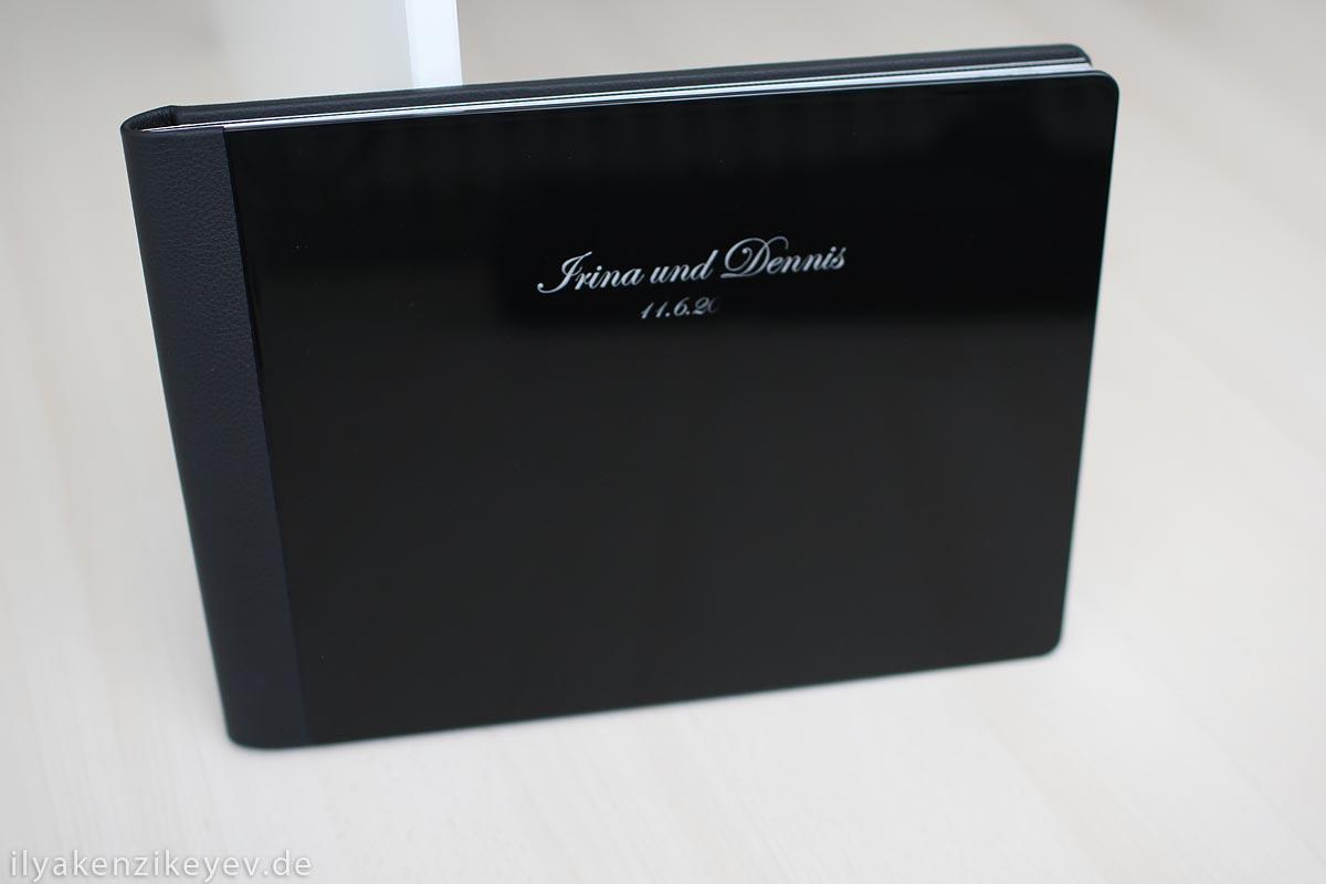 edles und hochwertiges Hochzeitsfotoalbum schwarz classic