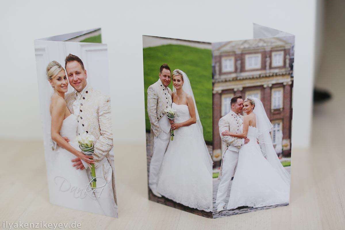 Einladungskarten Hochzeit im Hochformat Heiraten im Schloss Nordkirchen