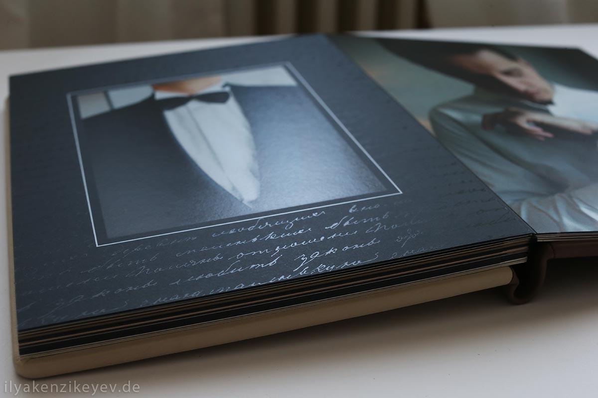 Hochzeit Fotobuch mit Passepartout