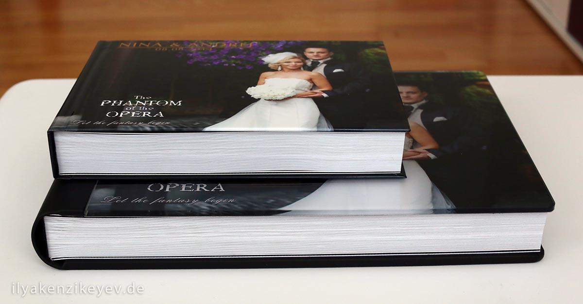 handgemachtes Hochzeitsalbum und Fotobuch