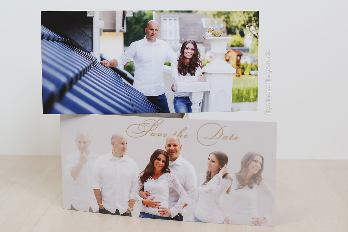 Savethedate Card Heiraten in Aachen