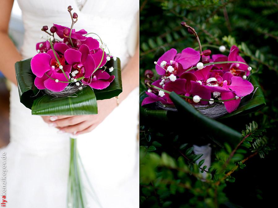 Brautstrauss Orchideen, Blumenladen Düsseldorf