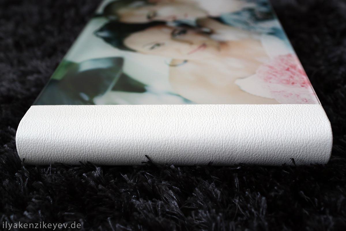 Hochzeitsalbum aus echten Leder weiss