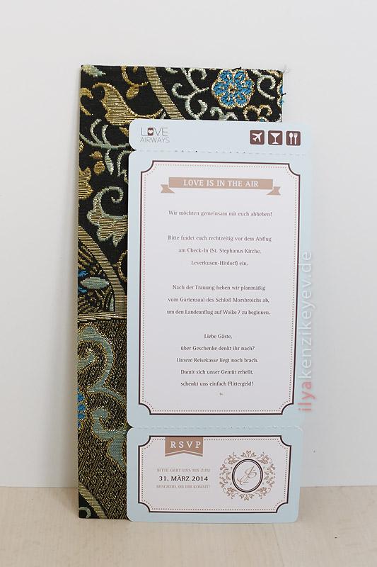 Bordkarte Einladungskarte bestellen