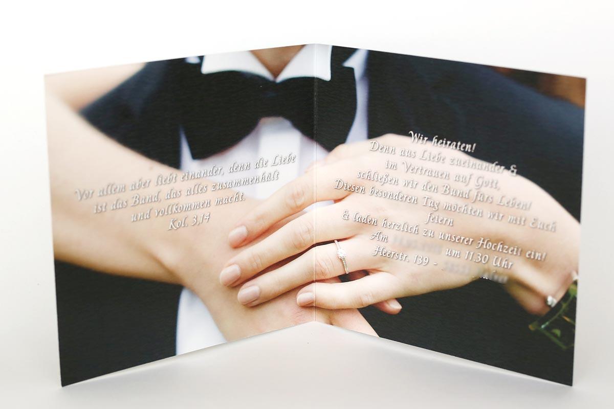 Einladungskarten Quadratisch Heiraten in Solingen