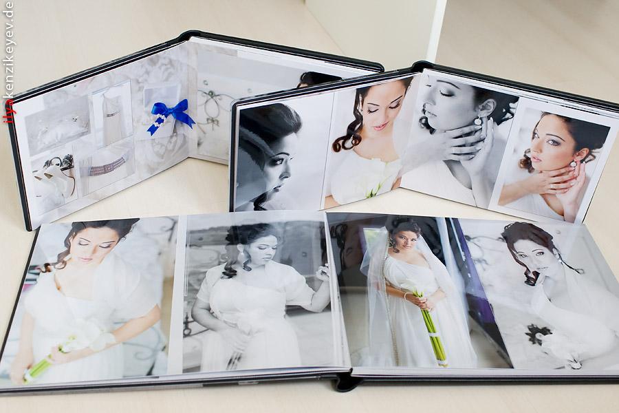 hochwertiges Hochzeitsalbum mit Fotopapier