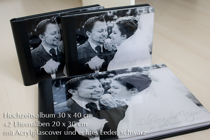 luxuriöses Hochzeitsfotoalbum Acrylglas Ilya Kenzikeyev Fotografie